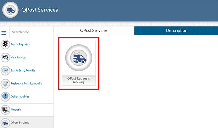 Check QPost Delivery Status On MOI Website